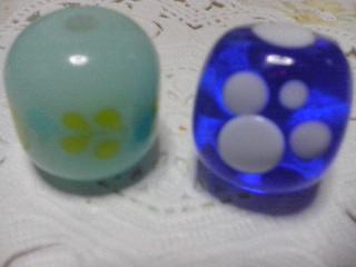 とんぼ玉2種